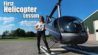 First Helicopter Lesson!    Robinson R44