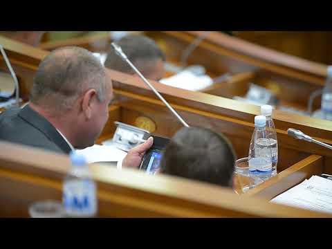 Deputatul Oleg Savva, la ședința Parlamentului