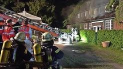 """Feuerwehr Münster im Einsatz beim Brand """"Ausflugslokal Maikotten"""""""