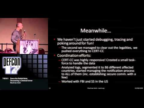 DEFCON 17: Down the Rabbit Hole: Uncovering a Criminal Server