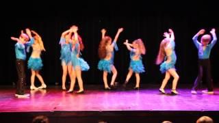 Performance by Salsa Kidz from Salsa&Flamenco Dansakademi at the Dance Kids Festival 2016