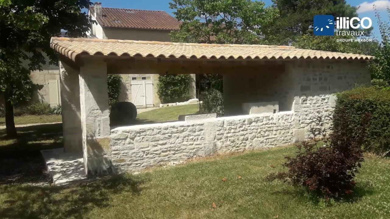 Amenagement Jardin Exterieur Photo aménagement d'extérieur avec abri de jardin en pierre à st symphorien par  illico travaux