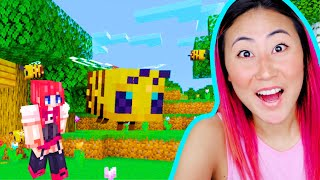 LIZZY CAPRI PLAYS MINECRAFT FOR THE FIRST TIME!!