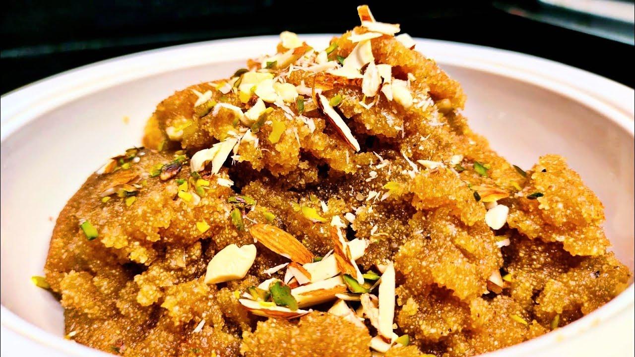 अष्टमी नवमी भोग केलिए परफेक्ट नाप और एक सीक्रेट चीज केसाथ सबसे दानेदार सूजी का हलवा बनाये Suji halwa