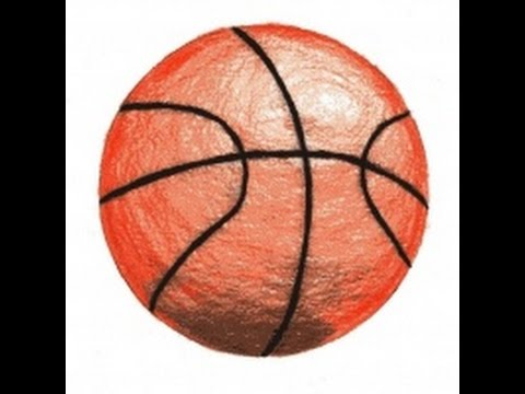 How To Draw A Basketball - YouTube