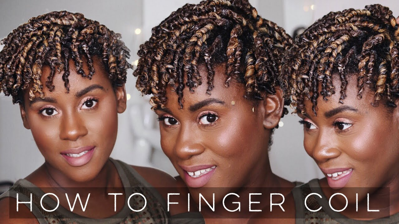 how to do perfect finger coils on natural hair | easy method for short natural hair