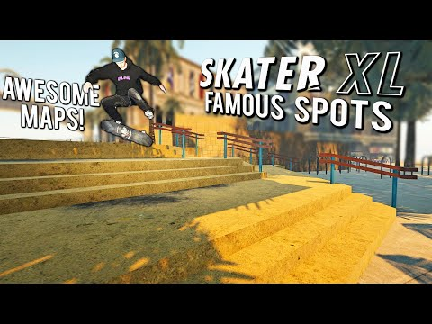 Skating Awesome Maps in Skater XL! (Venice Beach, Parking Lot and Courts)