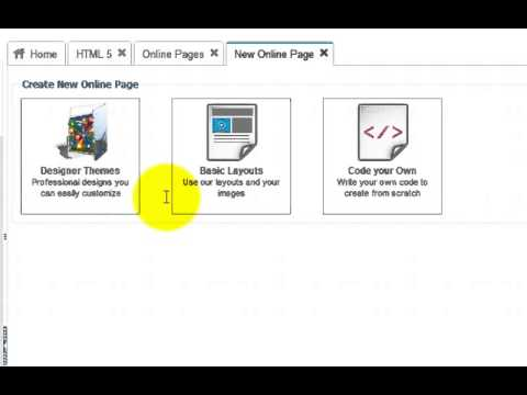 How to create online pages intro