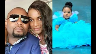 Actress Queen Nwokoye and her husband at a church service in South Africa