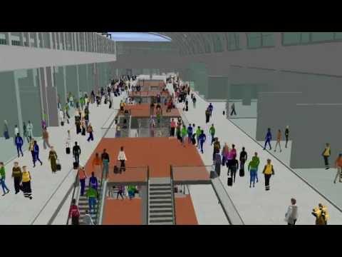 Modélisation 3D de la future gare de Montparnasse