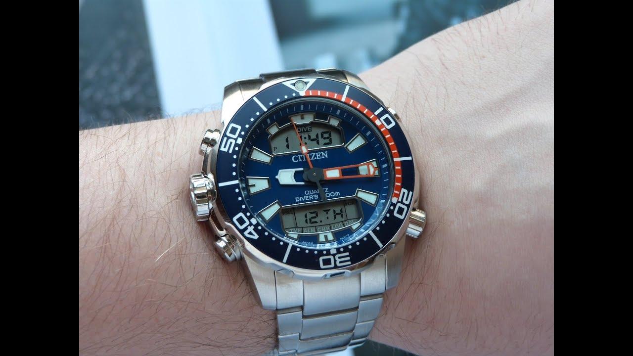 8b55ce9bcdb Relógio Novo Citizen Aqualand Promaster JP1099-81L TZ10164F - YouTube