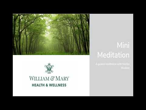 Mini Meditation with Martha - 2 Minutes