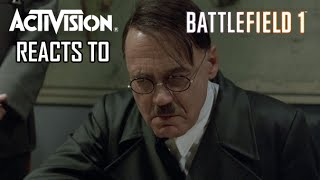 activision reacts to battlefield 1 a hitler reacts parody