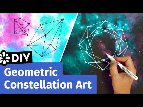 DIY Geometric Constellation Art | Easy Room Decor Ideas | Sea Lemon