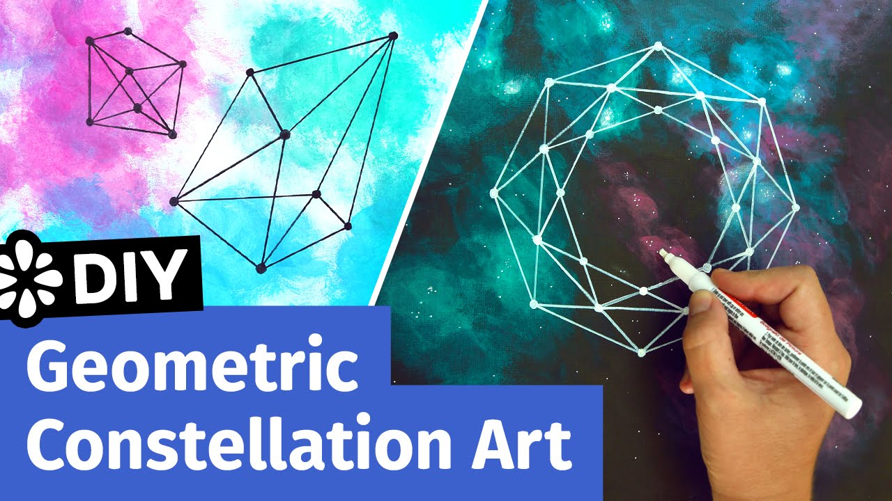 Diy Geometric Constellation Art Easy Room Decor Ideas