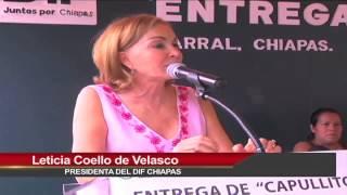 """DIF Chiapas entrega enseres para recién nacidos con el programa """"Capullito 2014"""" en Parral"""