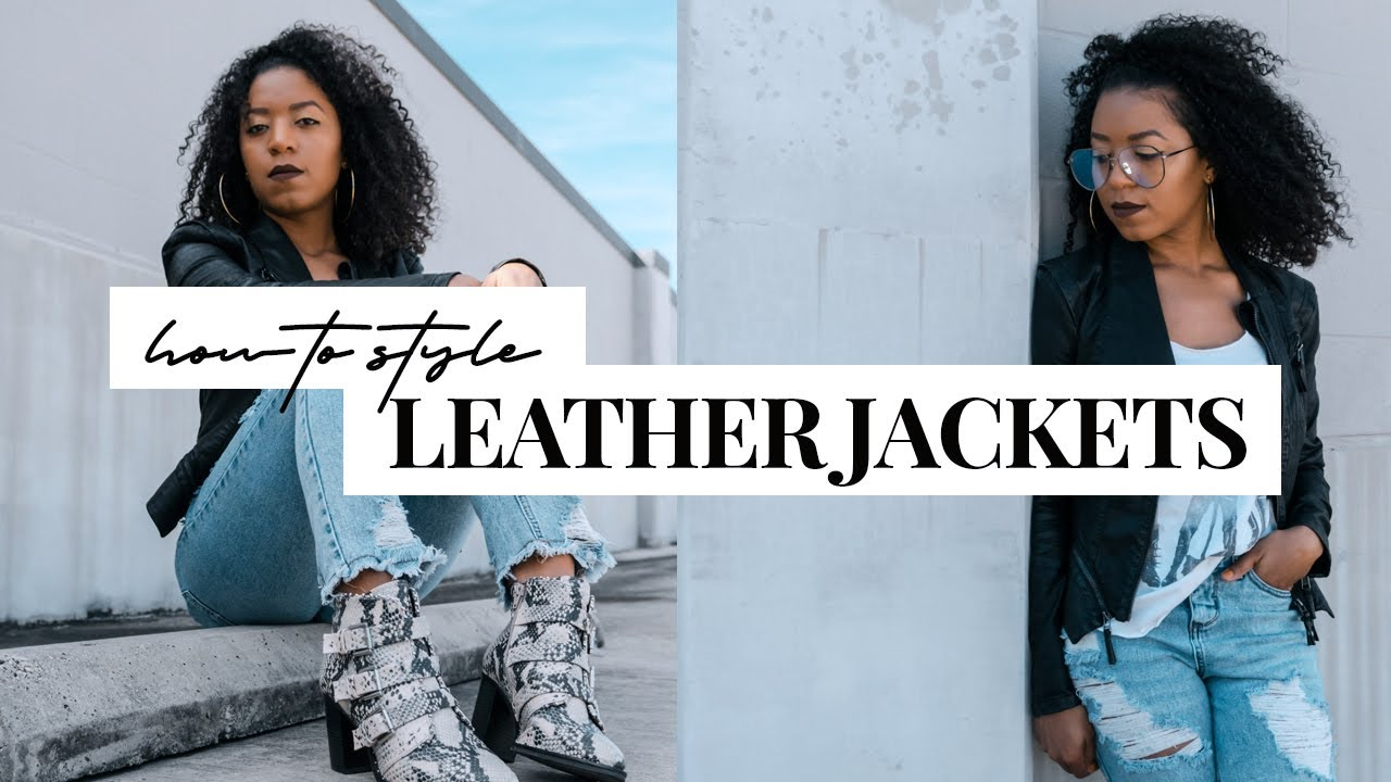 How to Style | A Leather Jacket | 3 Simple Outfit Ideas