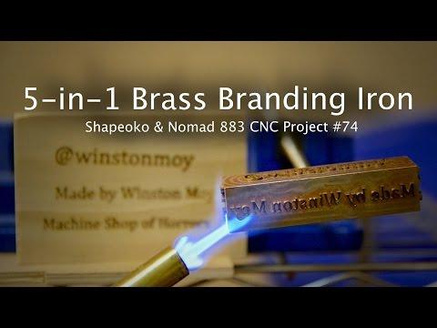 DIY Brass Branding Iron - CNC Project #74