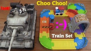 Interactive Toys for Toddlers: Vtech's Choo Choo Train Play Set Unboxing & Playtime + A Tank!