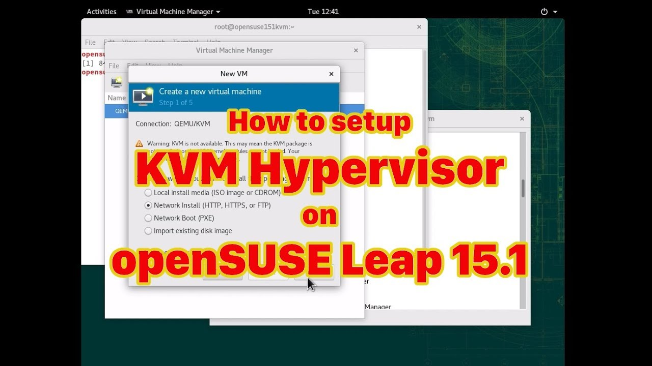 How to Setup KVM on openSUSE Leap15 1