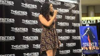 Jordin Sparks singing Love Will at the Mall of America