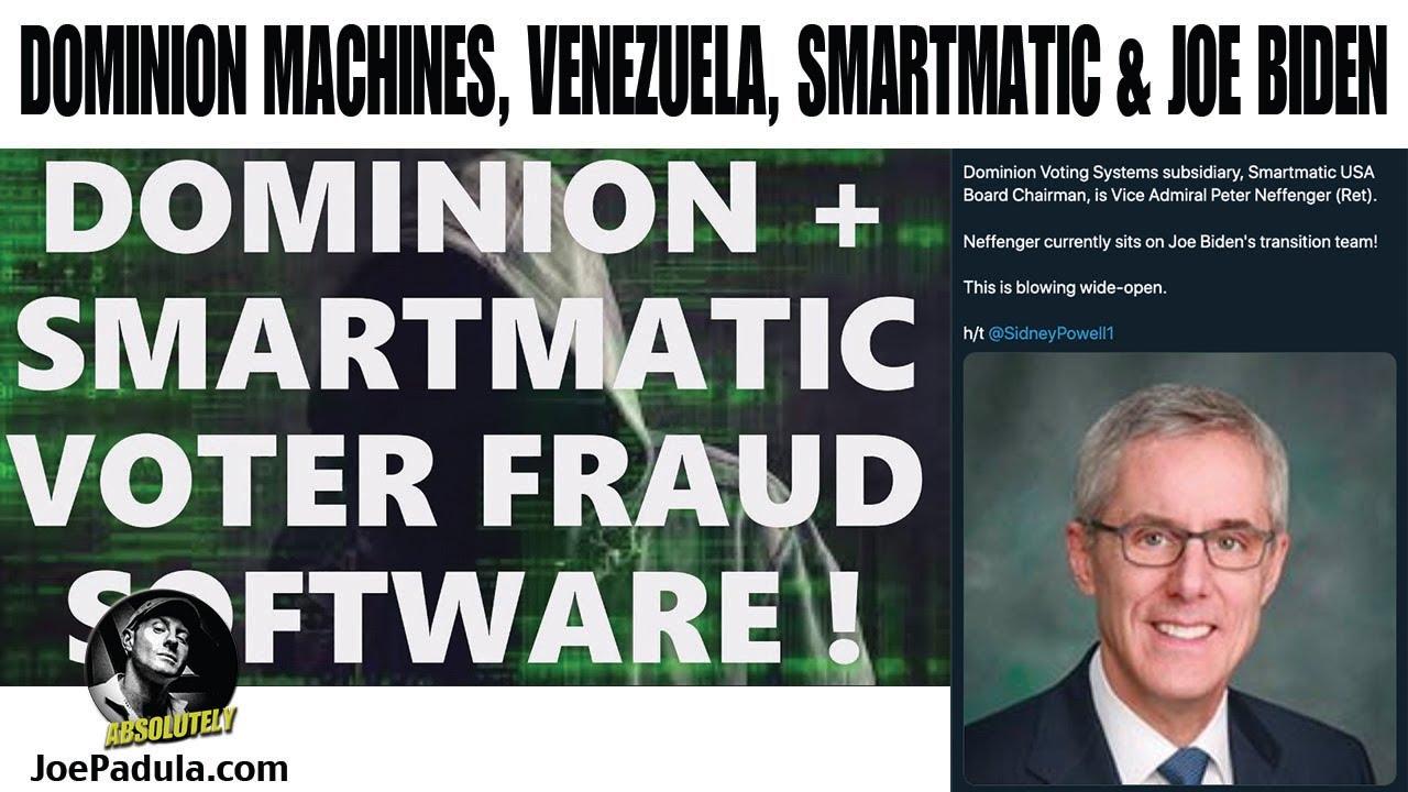 The Connection of Dominion Voting Machines, SmartMatic, Venezuela and Joe  Biden - YouTube