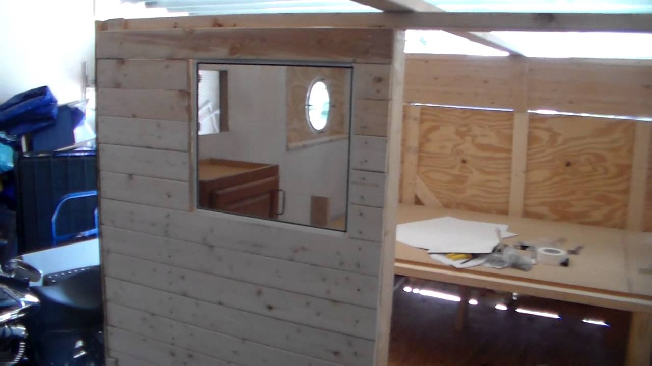 Homemade Camper Update 12 Sep 14~~~Painted and Secret Windows!