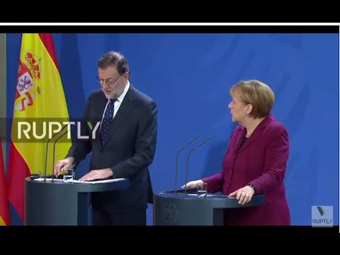 LIVE: Spanish PM Rajoy to hold joint press conference with Merkel