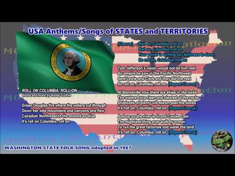Washington State Folk Song ROLL ON COLUMBIA, ROLL ON with music, vocal and lyrics
