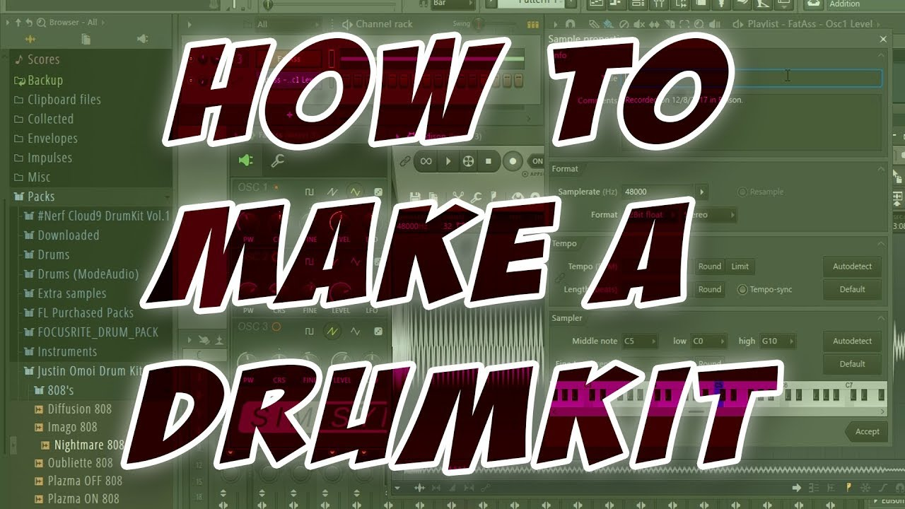 The Steps To Making A Drumkit!