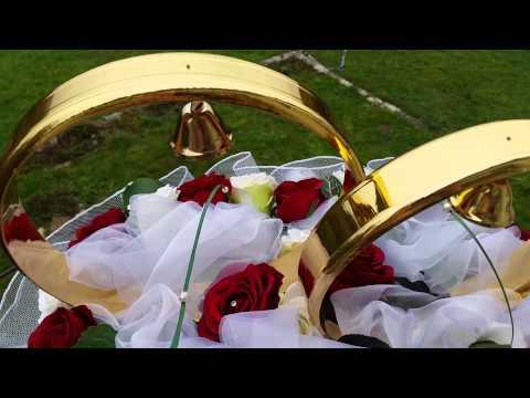 Hochzeit  Autoschmuck  Set mit Blumen