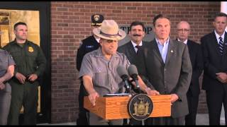 Governor Cuomo Holds Press Conference with State Police and Various Other Law Enforcement Officials