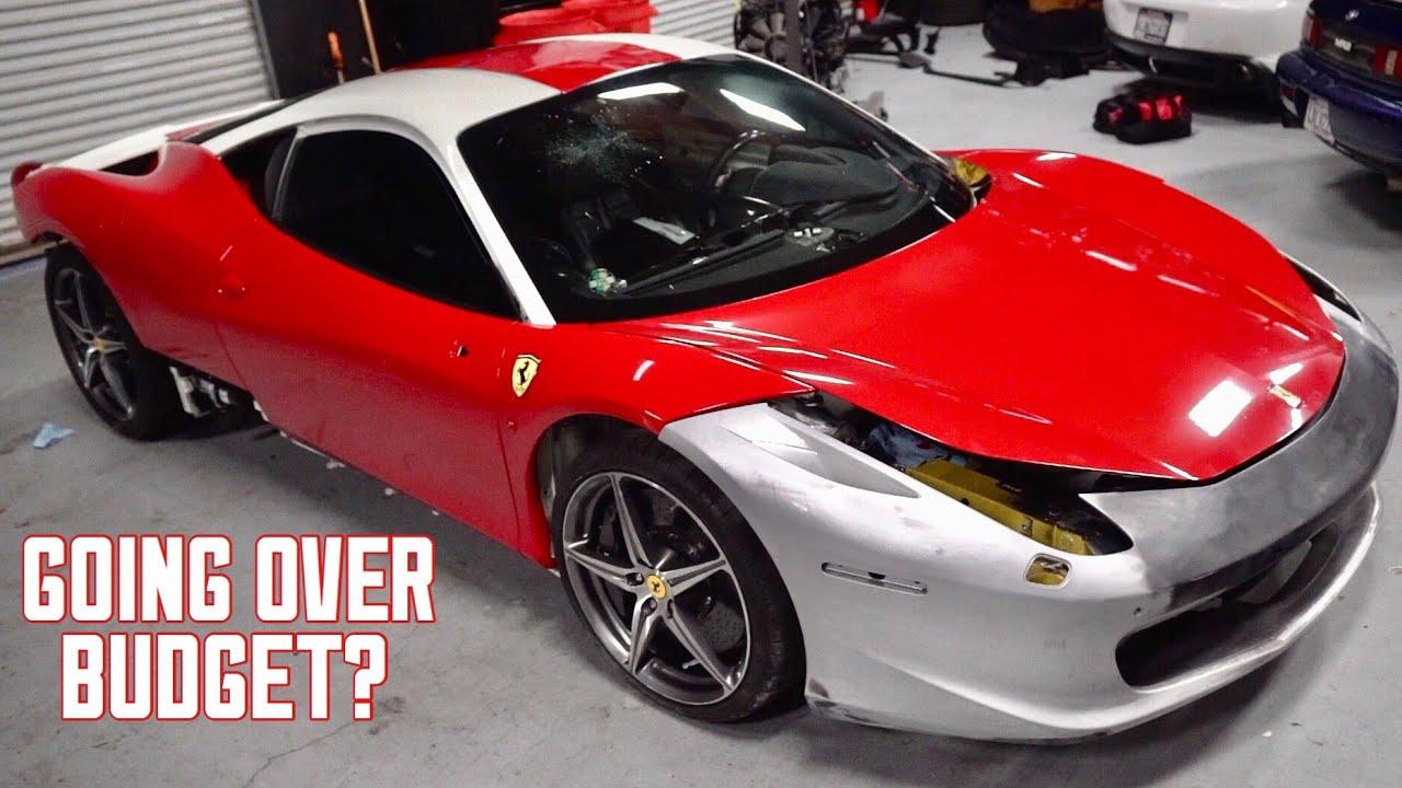 How Much Money I Ve Spent On My Wrecked Ferrari 458 140 000 Youtube