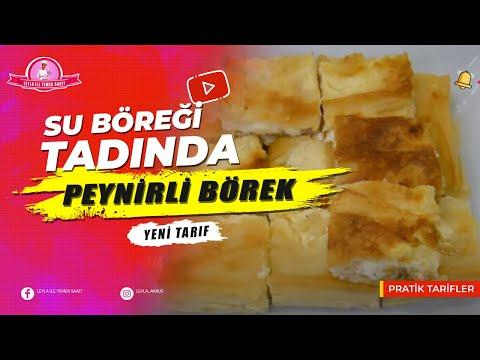 En Kolay Yapım Şekli ile Su Böreği Tadında Kolay Peynirli Börek Tarifi