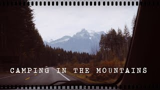 autumn camping trip in the mountains