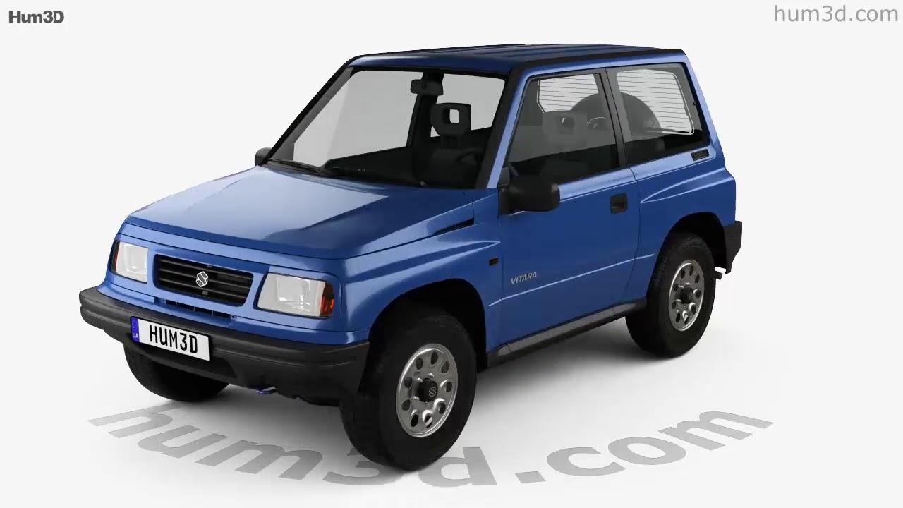 Suzuki Vitara 3 Door 1989 3d Model By Hum3d Com Youtube