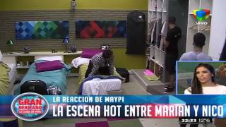 Maypi y su reacción al ver a Marian y Nico juntos
