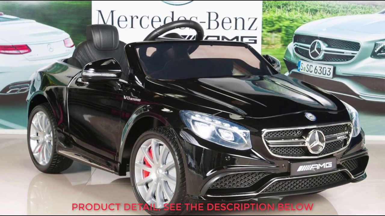 Mercedes benz s63 kids 12v electric power wheels ride on for Red mercedes benz power wheels