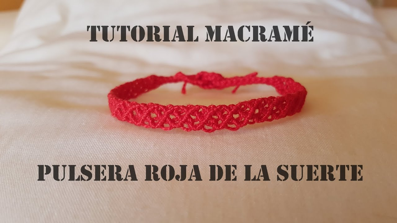 Cómo Hacer una Pulsera de Macramé de la Suerte Paso a Paso Fácil Rápida/How to make Macrame Bracelet