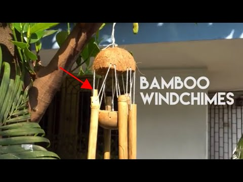 wind chimes made from bamboo & coconut shell