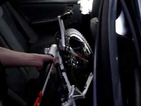 How To Load A Bicycle In Your Car Youtube