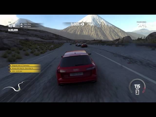 Driveclub PS4 HD Gameplay - Audi RS6 Avant - Taapaca Run Chile