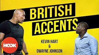 Kevin Hart & Dwayne Johnson Do Their Best British Accents & Slang