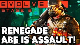 RENEGADE ABE GAMEPLAY!! NEW STAGE TWO HUNTER!! Evolve Gameplay Walkthrough (PC 1080p 60fps)