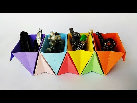 Accordion Box | DIY Desk Organizer | Useful Origami