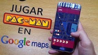 JUGAR PAC-MAN EN GOOGLE MAPS (Día de los inocentes) Free HD Video