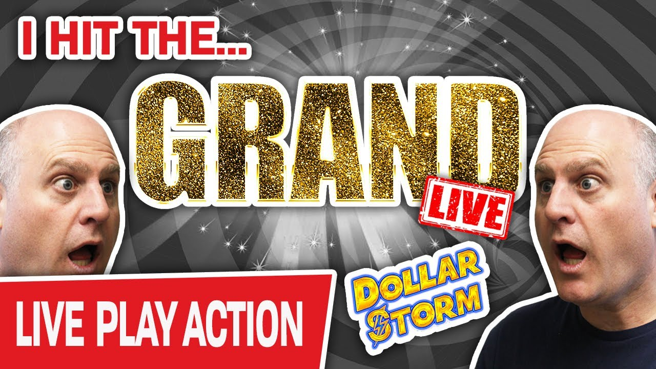 🔴 I Just Hit THE GRAND LIVE!!! ⚡ Dollar Storm Slots Jackpot INSANITY!