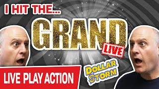 🔴 I Just Hİt THE GRAND LIVE!!! ⚡ Dollar Storm Slots Jackpot INSANITY!