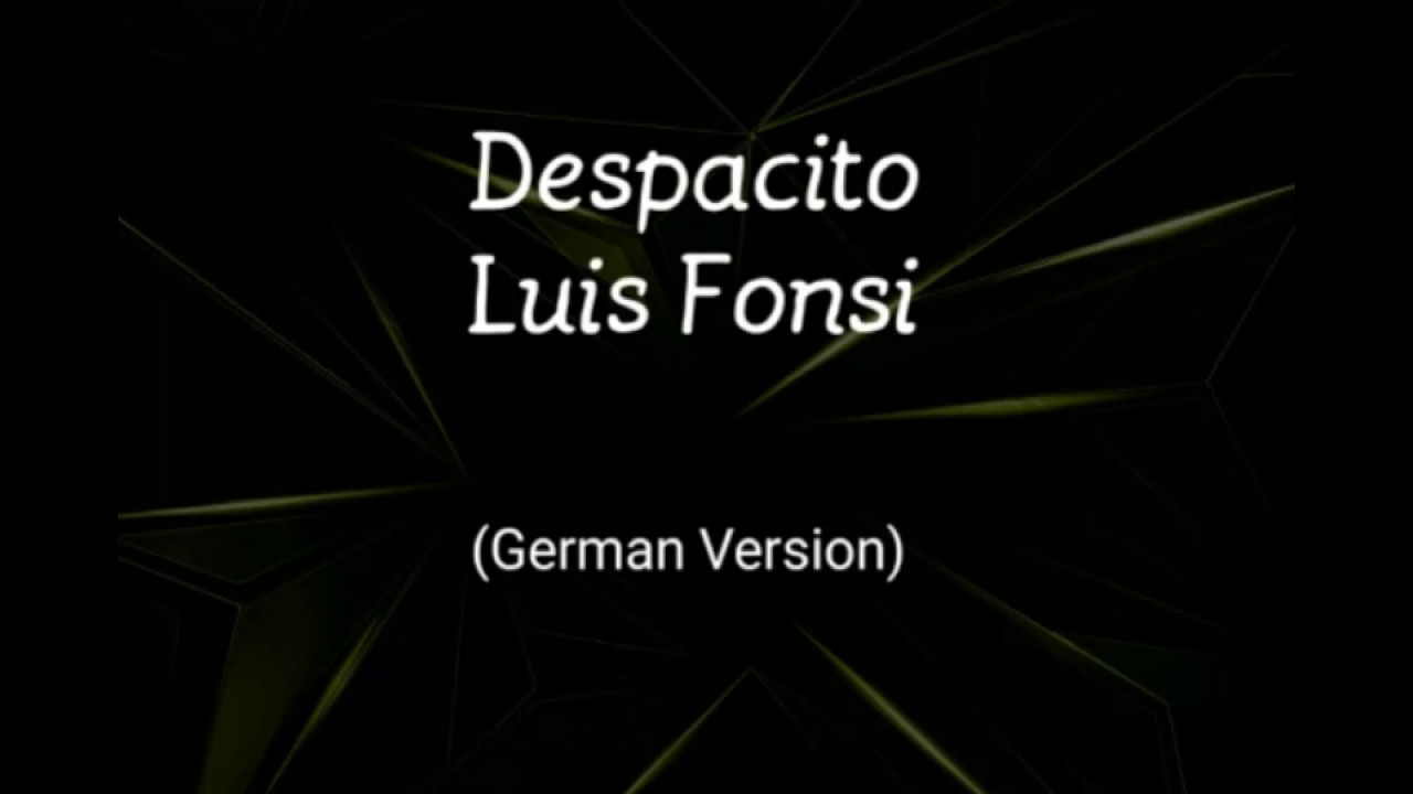 despacito deutsch