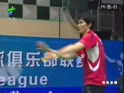 China Badminton League 2009-Bao Chunlai (Hunan) vs (Xiamen) Chen Long 6/7